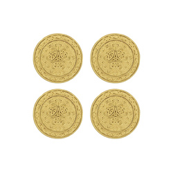 Shank button 28mm gold 4 pcs