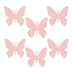 Decotag butterflies 32mm light red 6 pcs