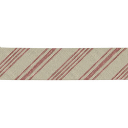 Bias tape stripes 30mm red/nature 5m