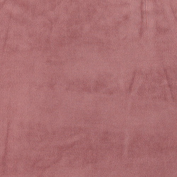 Stretch velour støvet mørk rosa