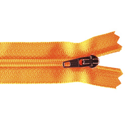 YKK zip 4mm coil closed end neon orange