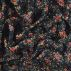 Woven polyester navy w small flowers