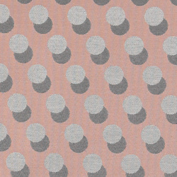Jacquard rose w grey melange dots