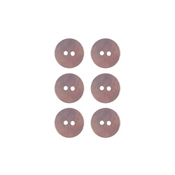 Button 2-holes pearl 15mm powder 6pcs