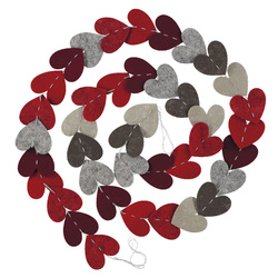 Kit felt garland 32pcs heart mix set