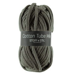 Garn cotton tube mix mørk støvet grøn