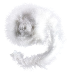 Feather boa 60mm white 1,8 m