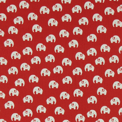 Stretch jersey red with baby elephant