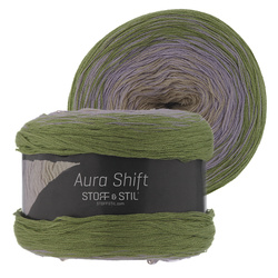 Yarn aura shift green/purple/sand 150g