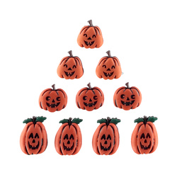 "Shank button 10-15mm ""Pumpkins"" 10pcs"