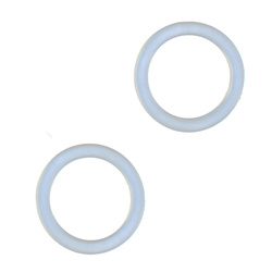 Pacifier chain O-ring 30mm transp. 2pcs