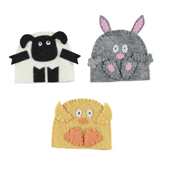 Kit felt egg warmers 3pcs multi set