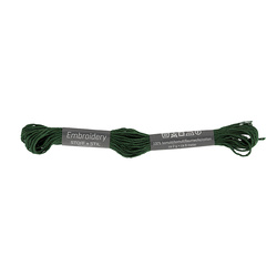 Embrodery yarn bottle green 8m