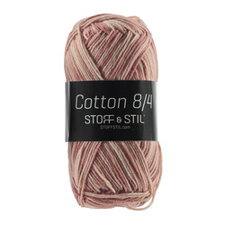 Garn cotton 8/4 rosa mix