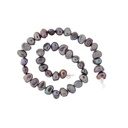 Beads freshwater 4-7mm grey 40 pcs