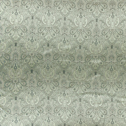 Jacquard satin off white/green flowers
