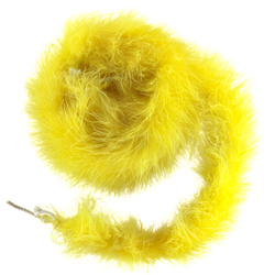 Feather boa 60mm yellow 1,8 m