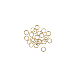 O-ring 4mm/6mm gold plated 25 pcs