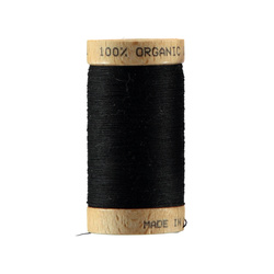 Sewing thread organic cotton black 100m