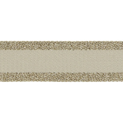 Ribbon woven 40mm sand w/gold lurex 2m