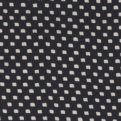 Woven viscose navy with uneven squares