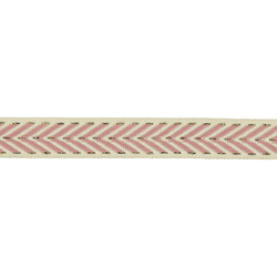 Band vävt 18mm rosa/natur/lurex 3m