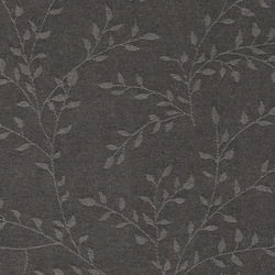 Woven dark grey w jacquard leaf pattern