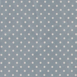 Woven oil cloth blue w white dots