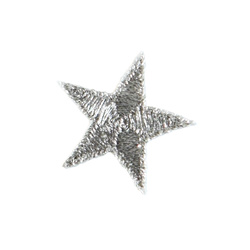 Patch star 2,6 x 2,6 cm silver 1pcs