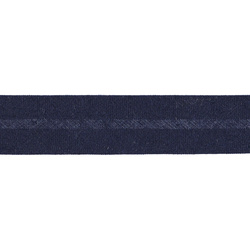 Bias tape cotton 18mm navy 5m