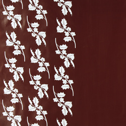 Non-woven oilcloth winered w white holly