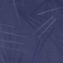 Woven oil cloth blue with big leaves