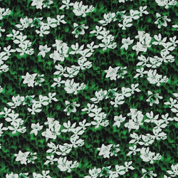 Woven viscose green w white flowers
