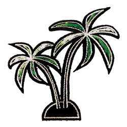 Patch palm 90x90mm 1 pc