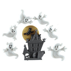 "Shank button 17-40mm ""Ghosts"" 7pcs"