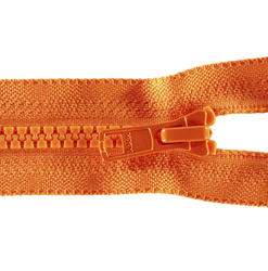 YKK lynlås 6mm ej delbar orange