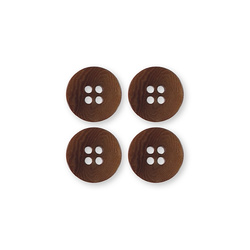 Button corozo 18mm 4-holes brown 4pcs