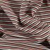 Stretch ribb natur m koral lurex stripe