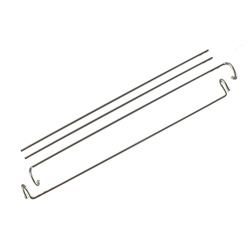 Panel hanger 22mm - 45 cm 2pcs crome